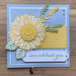 Celebrate Sunflowers Birthday Card for the Alphabet Challenge