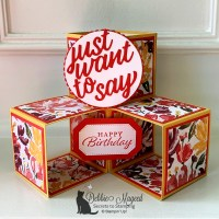 Art Gallery Triple Cube Card by Secrets to Stamping