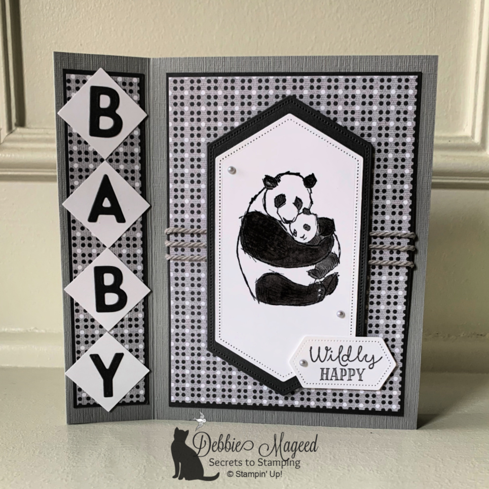Wildly Happy Baby Card for the Alphabet Challenge