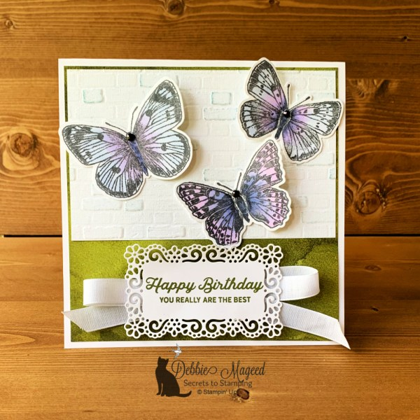 Butterfly Wings Birthday Card by Secrets To Stamping
