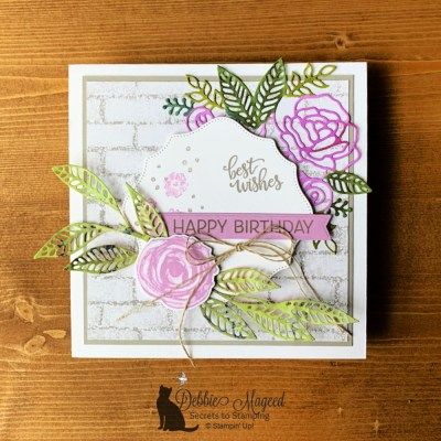 Artistically Inked Birthday Card for Happy Little Stampers Die Challenge