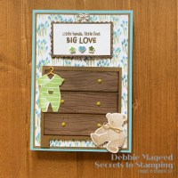 Happy Little Stampers Die Challenge With All For Baby Card
