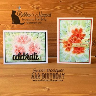 Art In Bloom Birthday Card for AAA Birthday Challenge