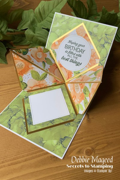 Artistically Inked Explosion Card by Secrets To Stamping