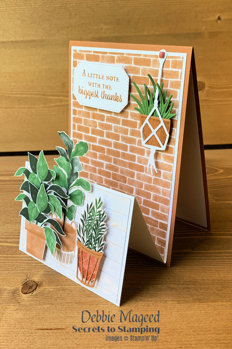 Easy Double Easel Plentiful Plants Card for the Pals Blog Hop