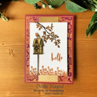 Garden Birdhouses Autumn Hello Card for Make My Monday
