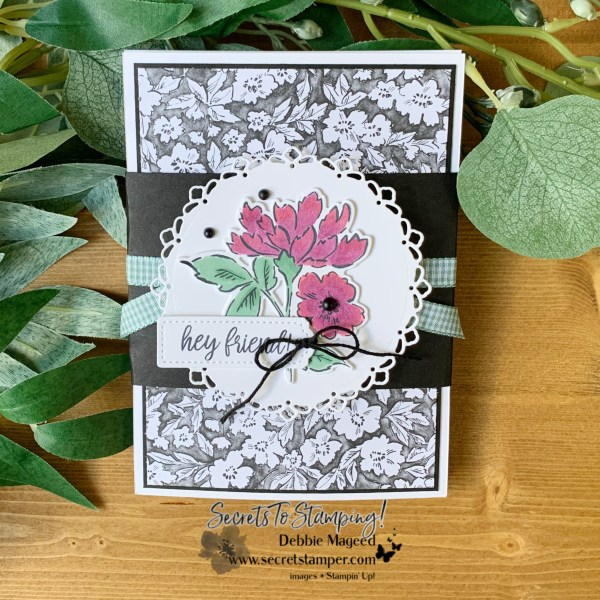Hand Penned Petals Fun Fold Card by Secrets To Stamping