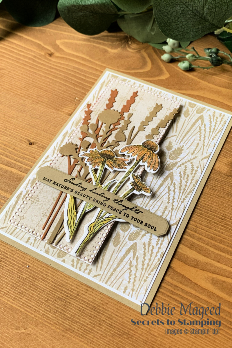 Nature\'s Harvest Thoughts for the Happy Little Stampers Die Challenge