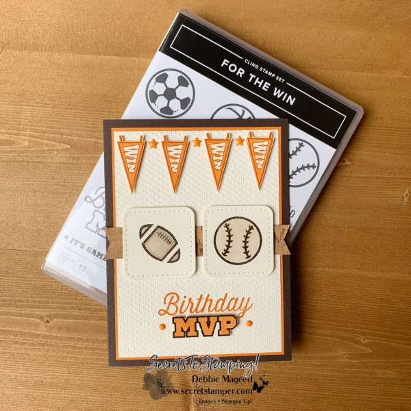 For The Win Birthday Card by Secrets To Stamping