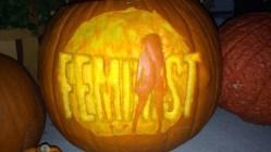 """Beyonce """"Feminist"""" Pumpkin"""