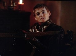 Garden of Bones (S2 Ep4) Joffrey shows how he'd score an A+ in Cruelty in a scene with concubines, a mace, and a crossbow.
