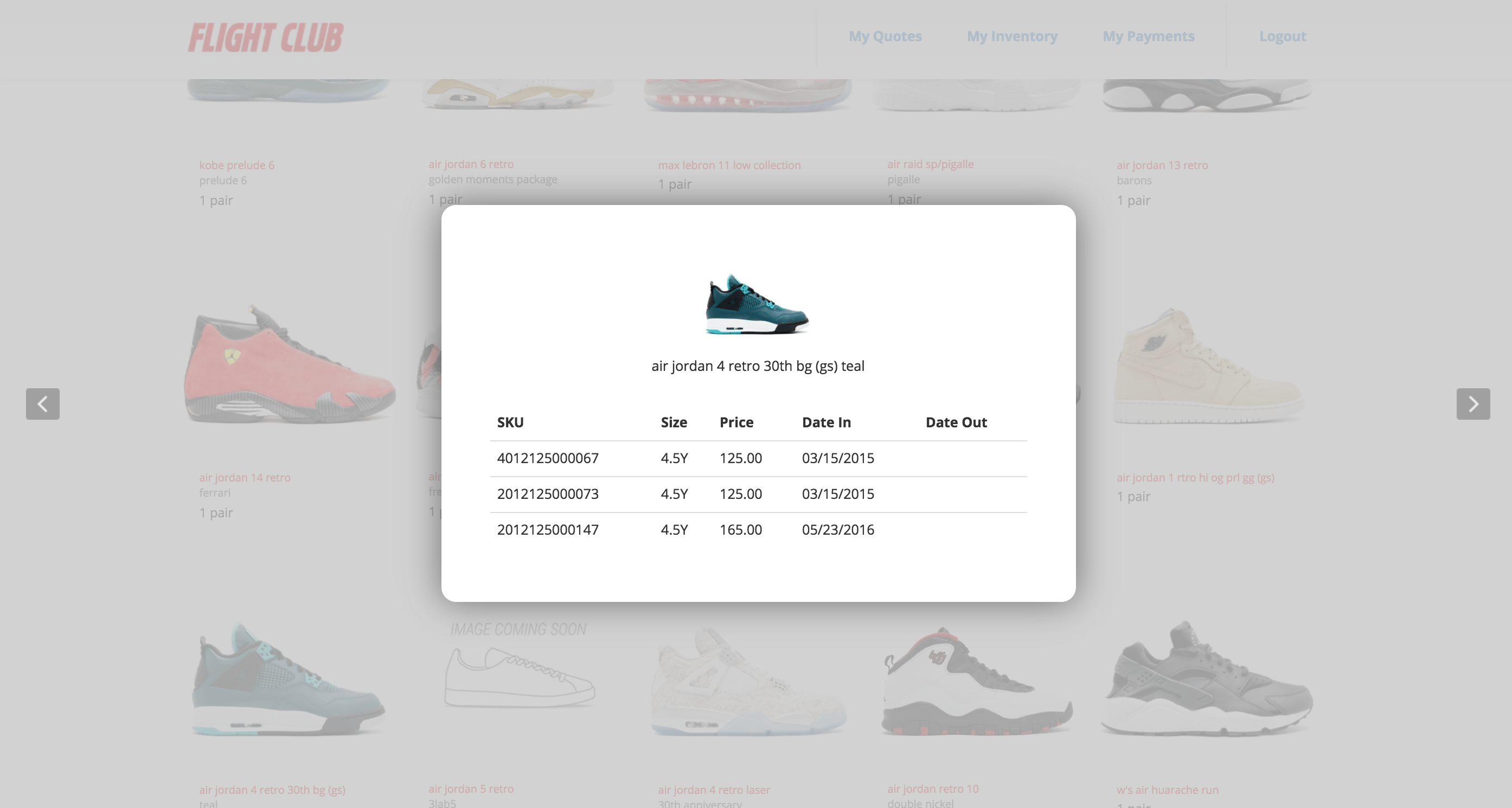 FlightClub | Your Inventory