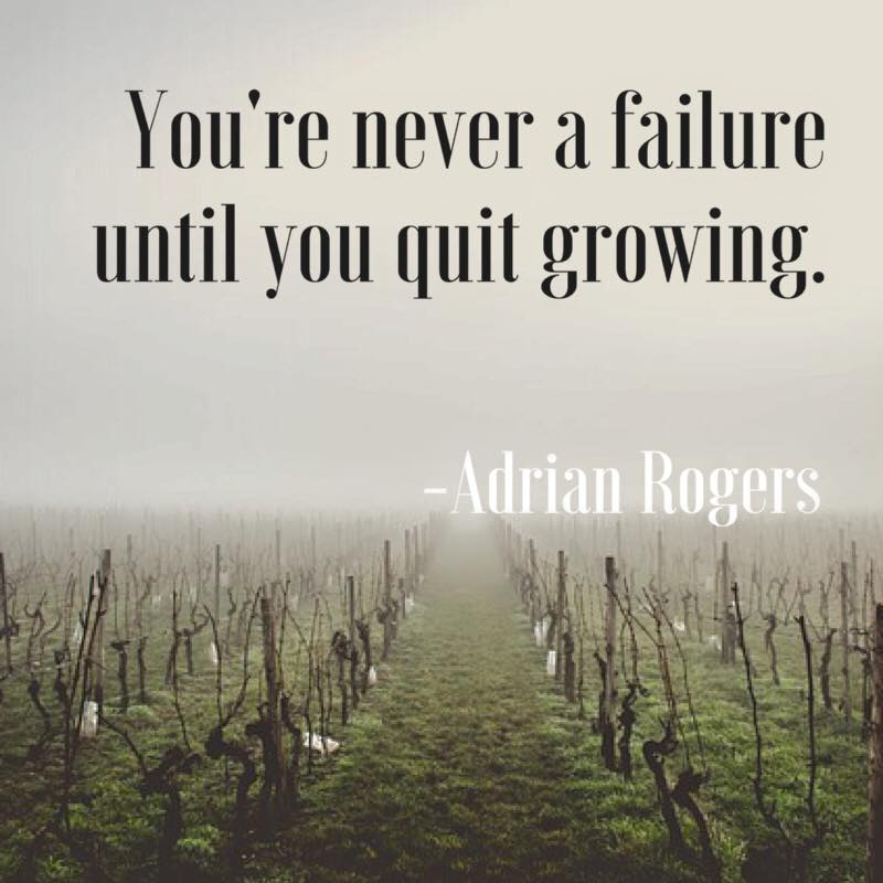 You're never a failure until you quit growing