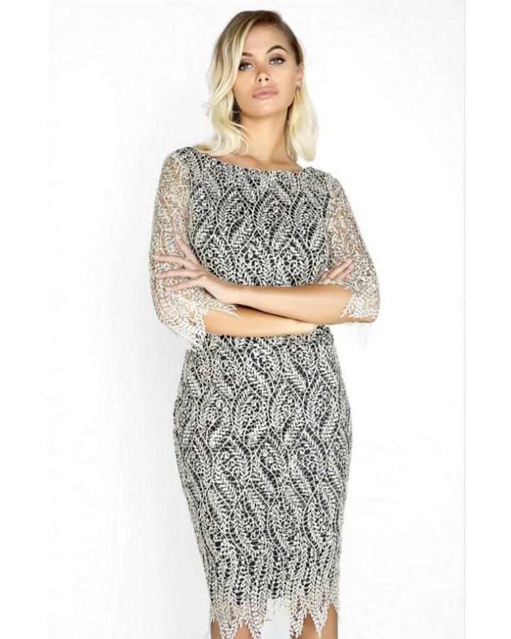1b9b6a07eb sukienka koronkowa z długim rękawem - Secret Wish Boutique  3