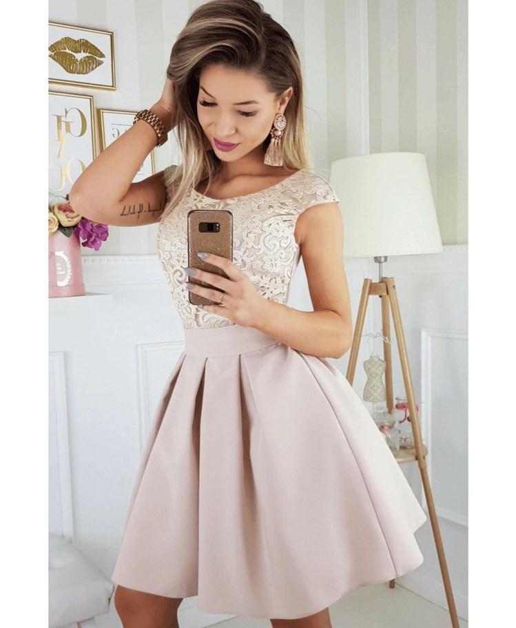 bb3b9f8b36 Agatha Sukienka Rozkloszowana Beż - Secret Wish Boutique