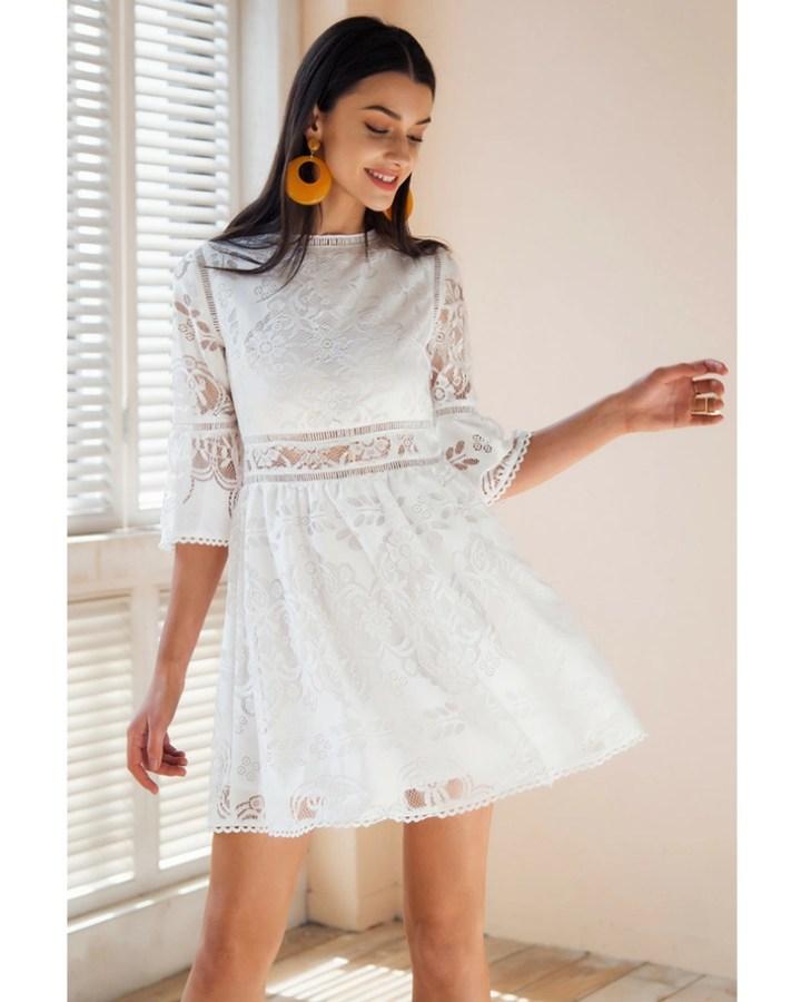 a5f5b5bc76 sukienka biała na plażę - Secret Wish Boutique  3