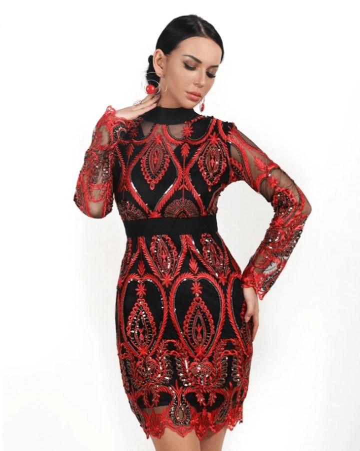 4b9afa6e2a koronkowa sukienka - Secret Wish Boutique  3