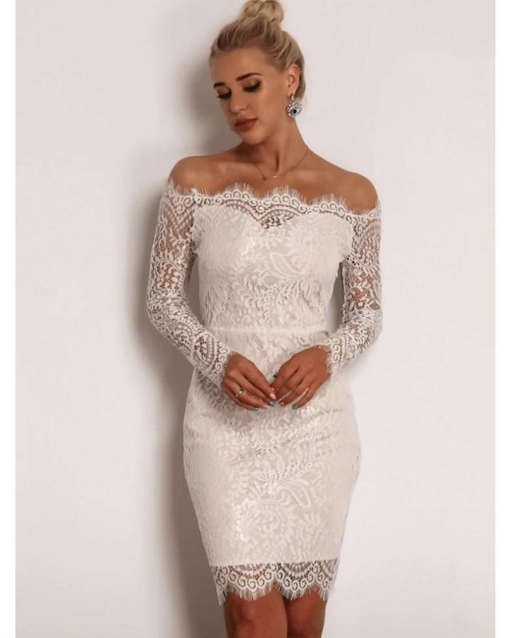 27b5e81931 Florniss Sukienka Hiszpanka Biała Ecru Koronkowa Mini