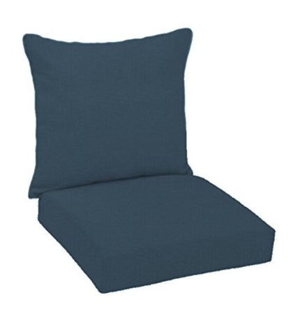 Deep seated chair cushion