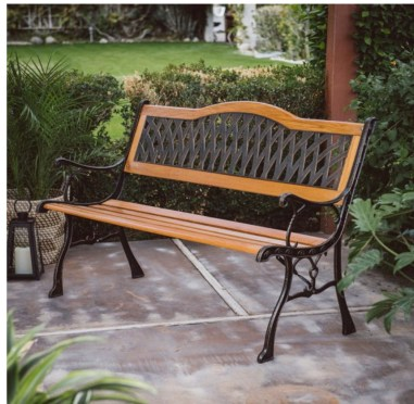 A patio furniture - Garden Bench
