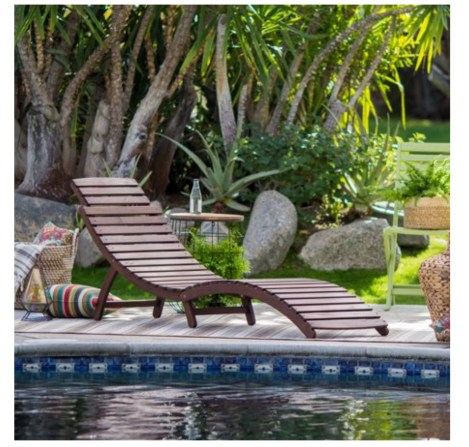 A patio furniture - Chaise Lounge