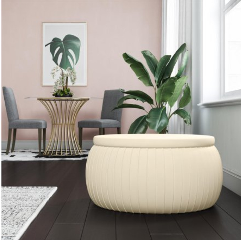Small Space Furniture: A round storage ottoman
