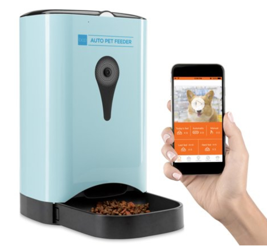 Smart Pet Gadgets: A smart automatic pet feeder with HD camera