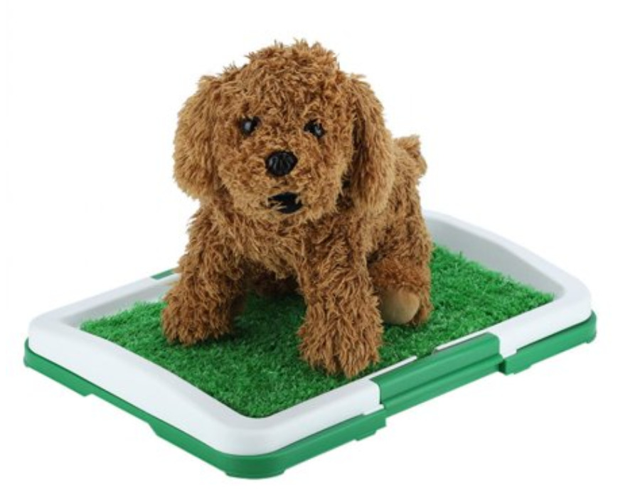 Dog pet potty mat grass pad with mesh and collection tray