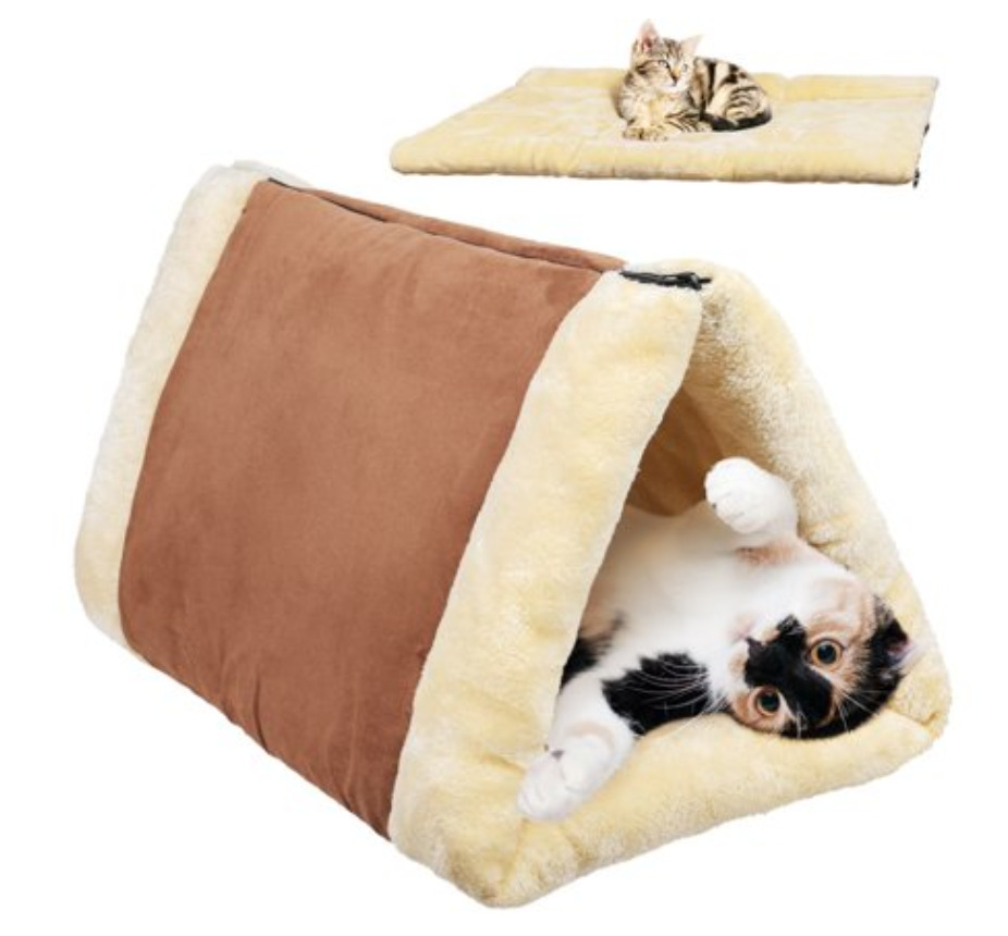 Cat pet cave bed snooze tunnel
