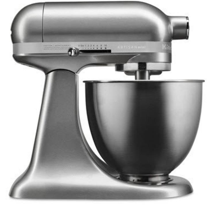 KitchenAid Artisan Mini 3.5 Quart Tilt-Head Stand Mixer, Contour Silver