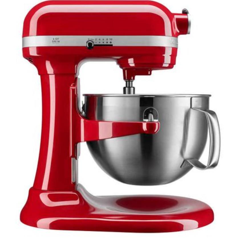 KitchenAid Professional Series 6 Quart Bowl Lift Stand Mixer w/ Flex Edge-Red