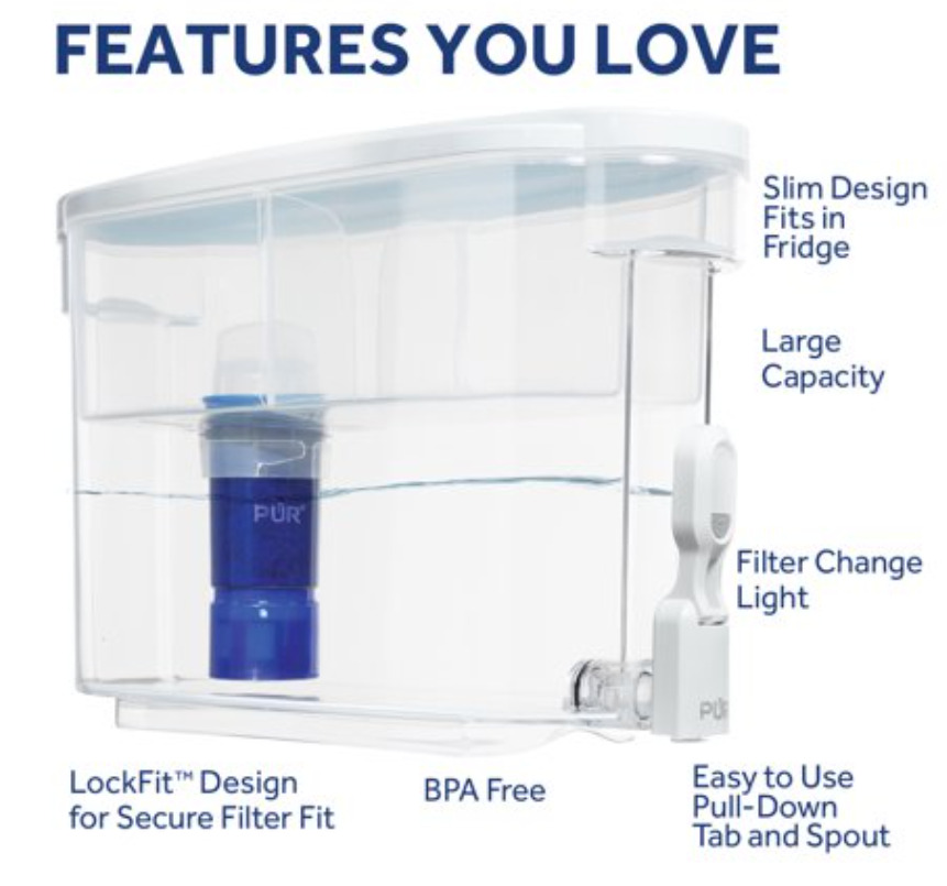 PUR Ultimate Dispenser Water Filter with Lead Reduction