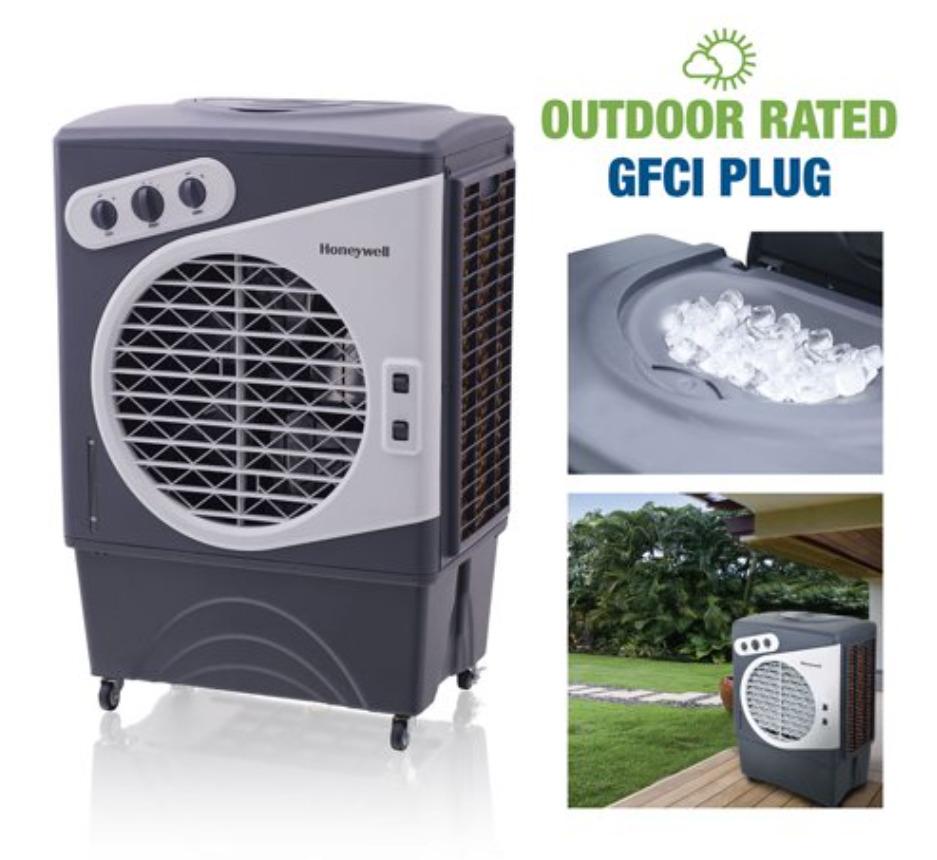 Honeywell 1540 CFM Indoor/Outdoor Evaporative Air Cooler (Swamp Cooler)