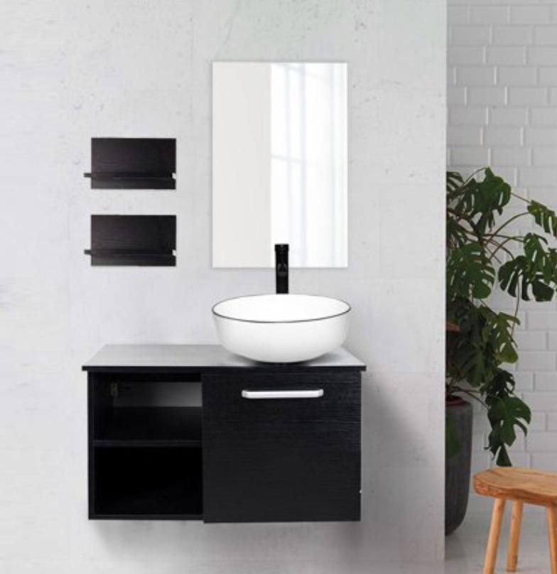 ELECWISH 28 Inch Wall Mounted Bathroom Vanity and Sink Combo
