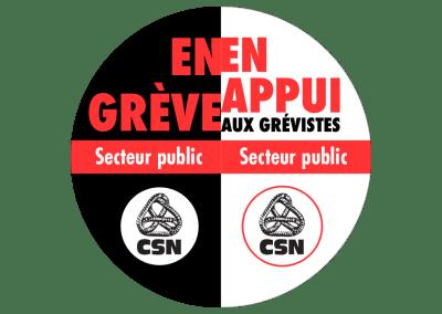 En grève – En appui