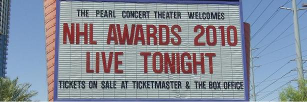 NHL Awards – Palms marquee
