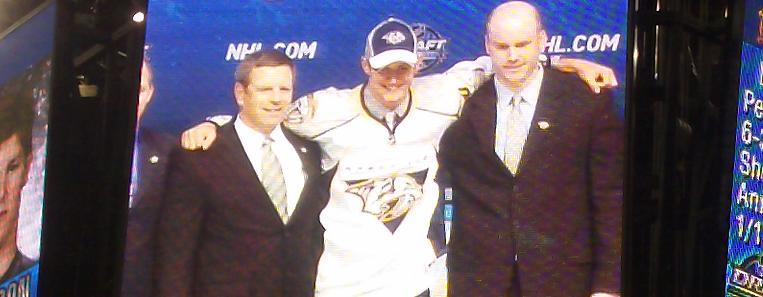 NHL Draft – Watson on jumbotron