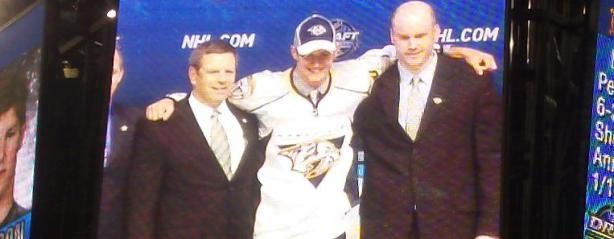 NHL Draft – Watson on jumbotron
