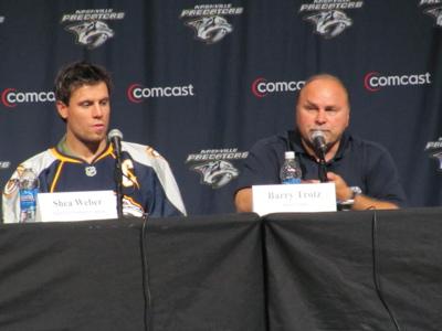 Capt Weber and Coach Trotz (by Michelle Bukowski)