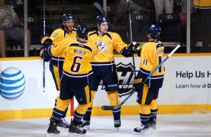 Jones, Forsberg, Weber and Legwand (Sarah Fuqua)