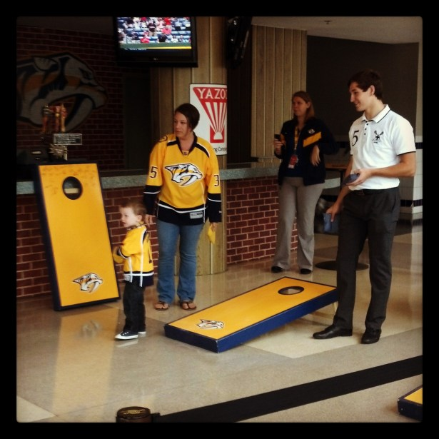 corn hole with Forsberg