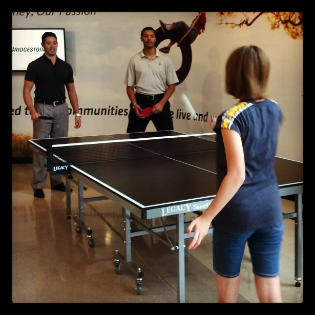 ping pong with Bartley and Jones