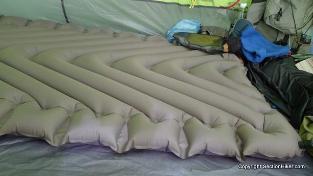 klymit static v luxe sleeping pad review sectionhiker com