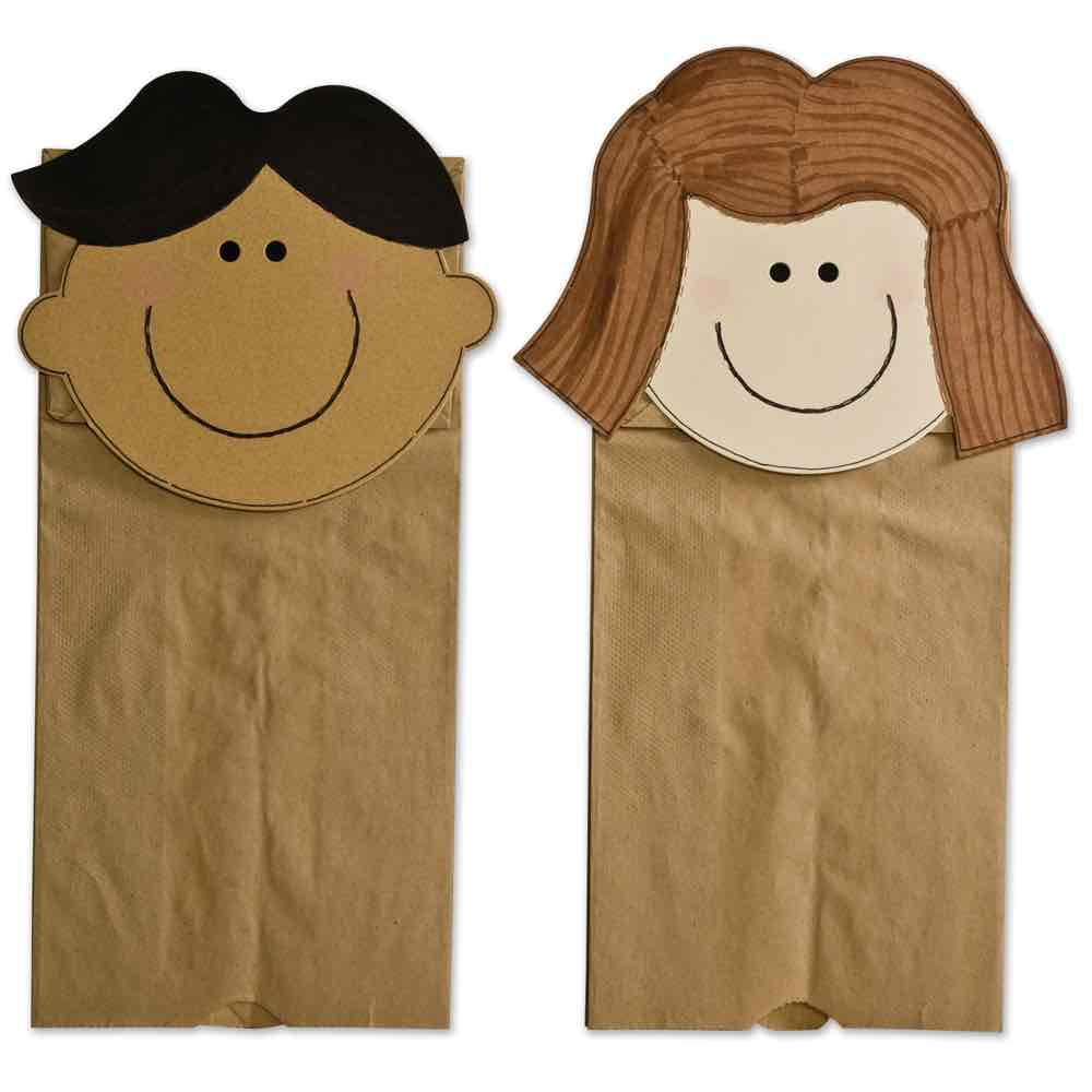 Community Helper Paper Bag Puppets Template