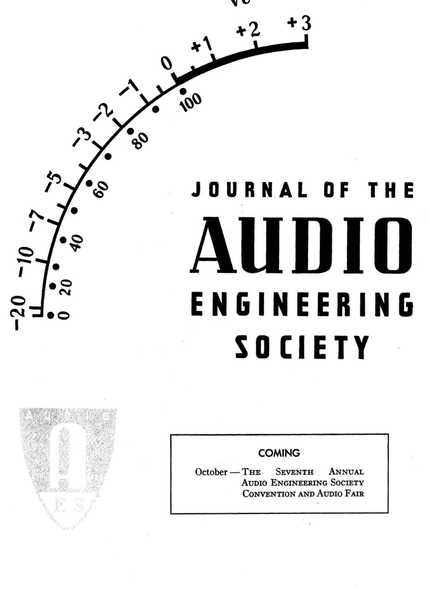 Aes E Library Complete Journal Volume 3 Issue 1