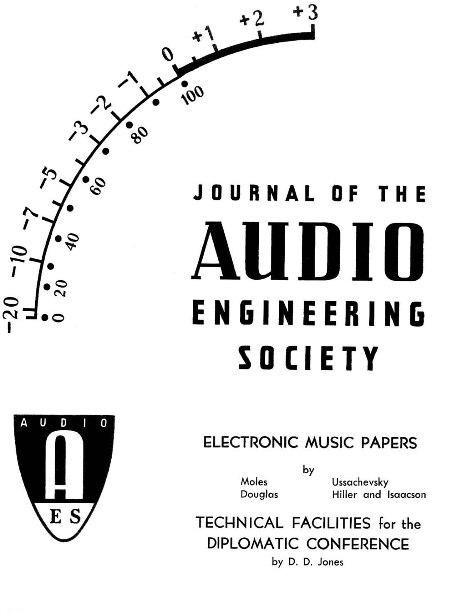 Aes E Library Complete Journal Volume 6 Issue 3