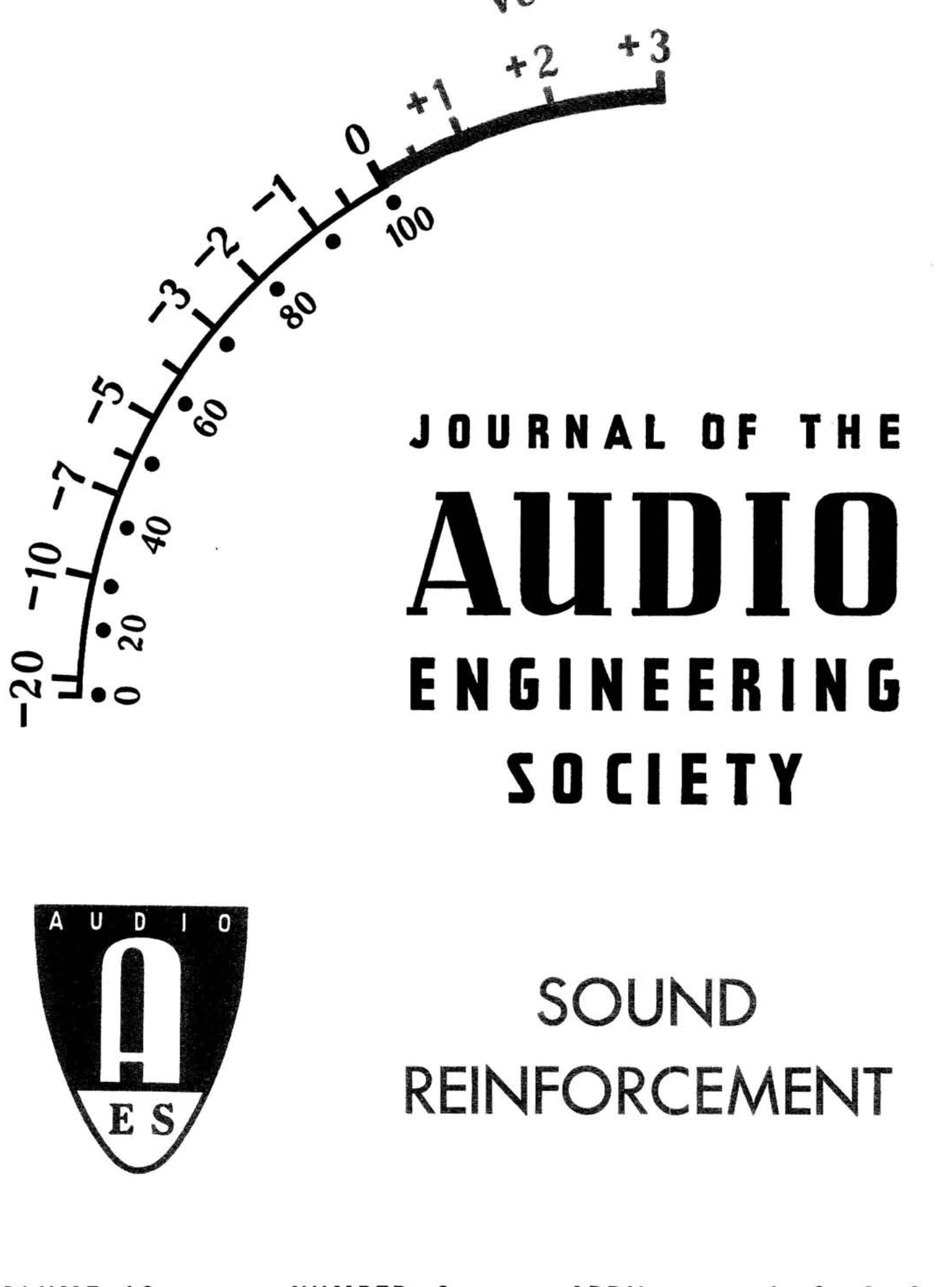 Aes E Library Complete Journal Volume 10 Issue 2