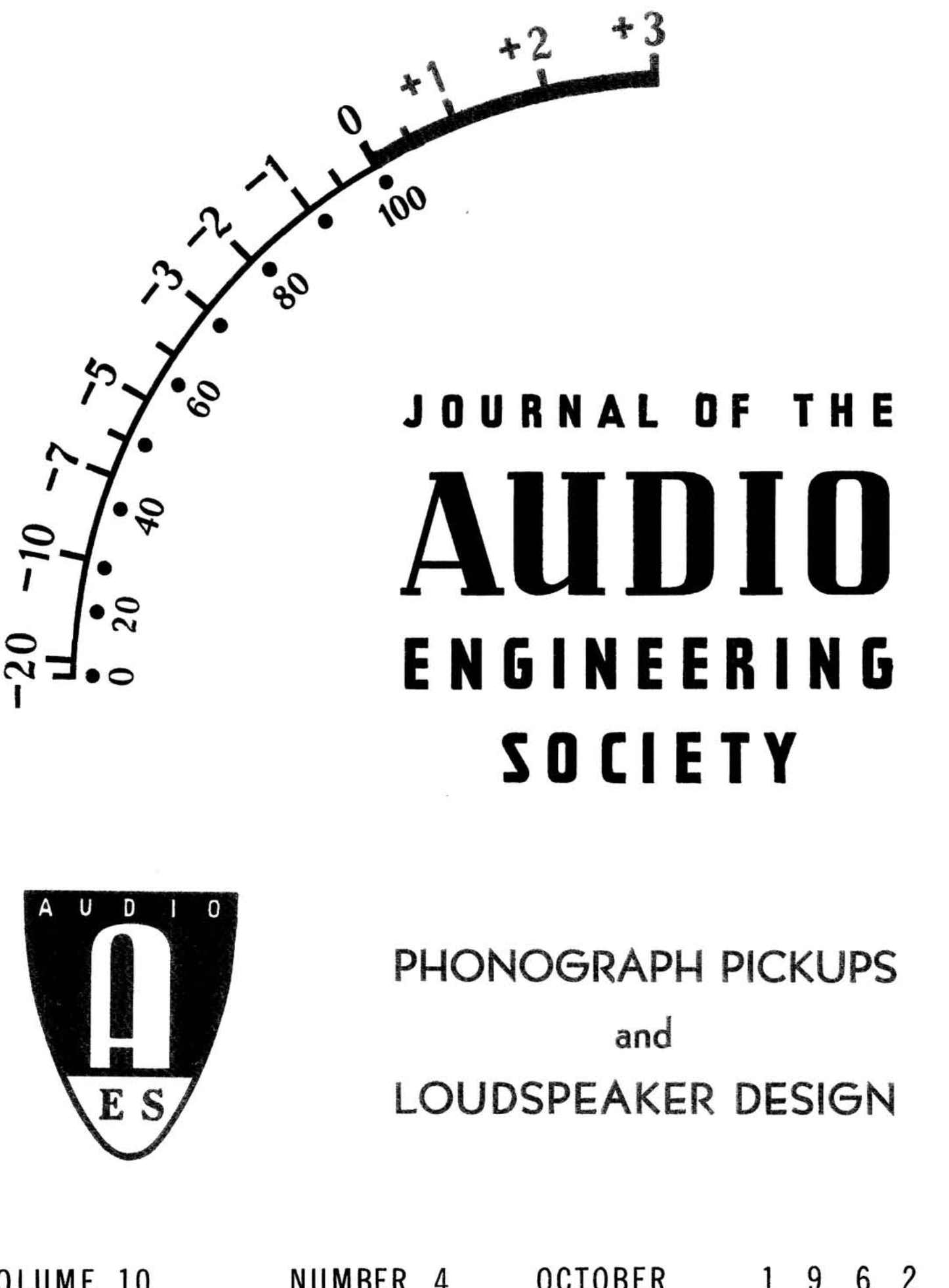 Aes E Library Complete Journal Volume 10 Issue 4