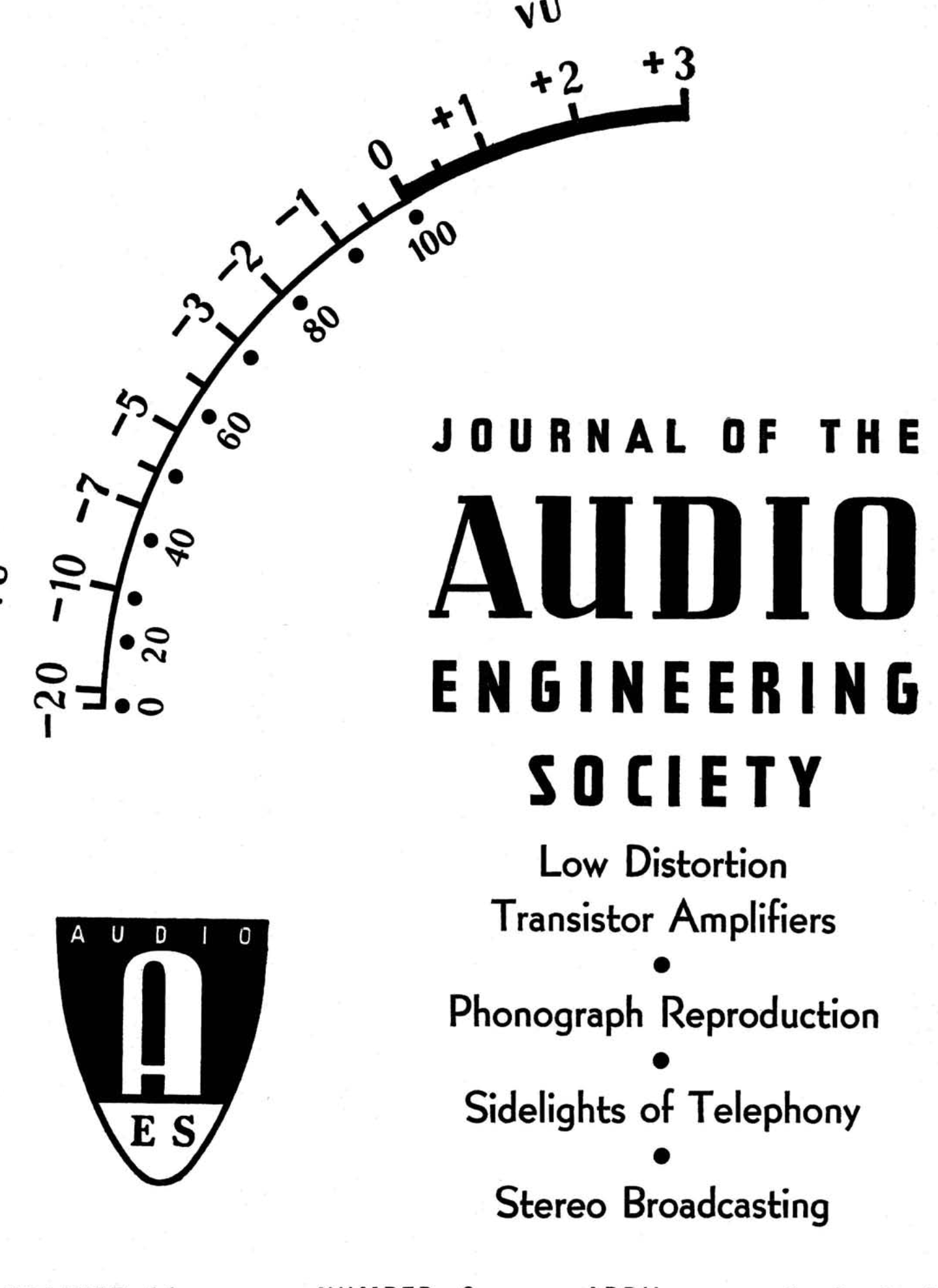 Aes E Library Complete Journal Volume 11 Issue 2
