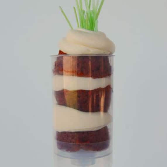 Wedding Cake Wednesday  Carrot Cake Push Ups   Disney Weddings These adorable  non traditional carrot cake push ups are a perfect way to  satisfy your sweet tooth and please both tiny and grown humans alike